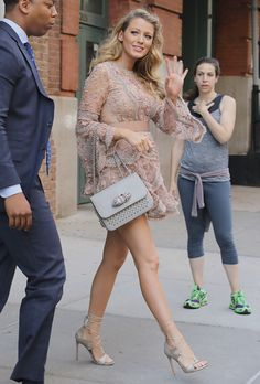 The hairs different, the dress is fantastic and the shoes just make it even better.