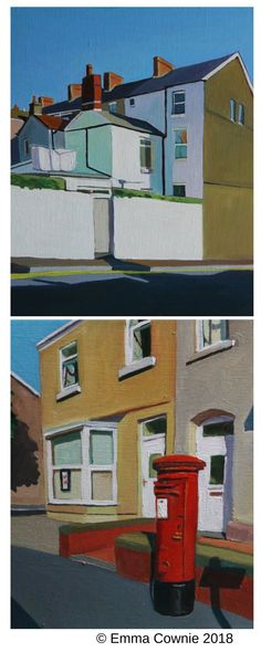 Urban minimal streetscapes of Swansea by artist Emma Cownie