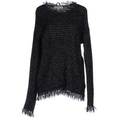 Michael Michael Kors Jumper (170 AUD) ❤ liked on Polyvore featuring tops, sweaters, black, long sleeve fringe top, jumper top, long sleeve tops, lightweight sweaters and long sleeve jumper