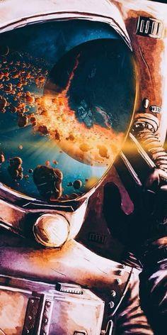 New Trippy Art Universe Cosmos Ideas Astronaut Wallpaper, Space Illustration, Astronauts In Space, Galaxy Art, Galaxy Space, Space And Astronomy, Galaxy Wallpaper, Trippy Wallpaper, Outer Space