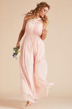 Birdy Grey Kiko Grecian Halter Neck Bridesmaid Dress in Blush Pink  100  Blush Pink Bridesmaid Dresses 5e46f5a3f