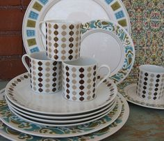 Retro Dishes by moxie-girl, via Flickr