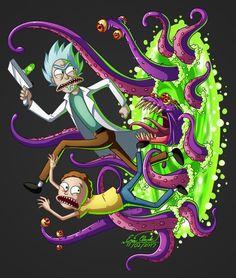 I love Rick and Morty. Rick and Morty Rick And Morty Drawing, Rick And Morty Tattoo, Ricky Y Morty, Rick And Morty Poster, Nerd, Funny Wallpapers, Psychedelic Art, Cartoon Wallpaper, Cartoon Art