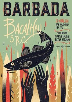 BARBADA is an event that happens in Brazil. It's focused on contemporary music and features performances by local and national bands and DJs. Both the event and the design of the posters intend to carry the rich brazilian culture.