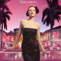 SUE WONG strapless soutached gown with beaded bodice. #teamsuewong #fashion #inspiration #couture #hautecouture #highfashion#glamorous #suewong #colorful