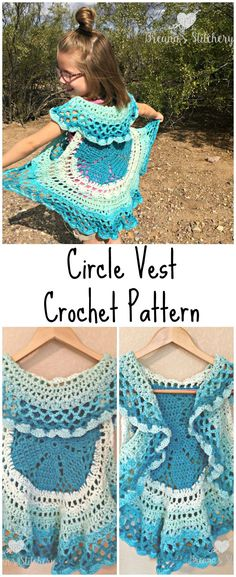 I love circle vests! They're such a fun accessory. For this Circle Vest Crochet Pattern I wanted to use a Caron Cake. Because who doesn't love stripes without weaving in all the ends, amiright? Of course, I had one laying around, just waiting to be used and it turned out to be the perfect amount of yarn to make this circle vest! I used almost exactly one cake. So if you crochet loosely, or up a hook size, one cake may not be enough. This pattern is available as an inexpensive, c...