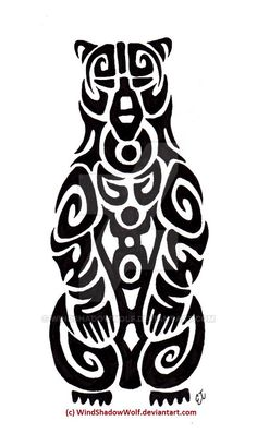 tribal bear tattoo - Google Search More
