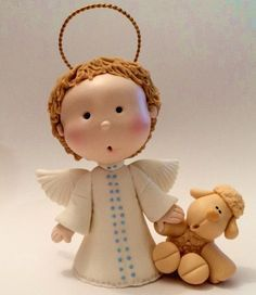 angelitos en pasta francesa - Buscar con Google