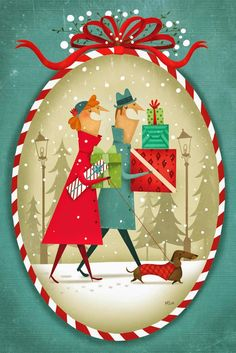 Fuidelfui [Yuletide] Illustration -- by Marie-Eve Tremblay; Canadian--Quebec