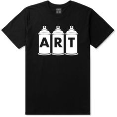 Kings Of NY Art graf graffiti spray can paint artist T-Shirt tshirt ($15) via Polyvore featuring tops, t-shirts, shirts, tees, shirt tops, t shirt and tee-shirt