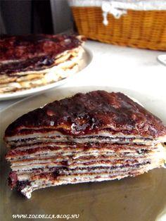 Vegán palacsintatorta Pie, Vegan, Desserts, Food, Torte, Tailgate Desserts, Cake, Deserts, Fruit Pie