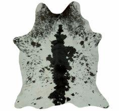 Alfombra Piel de Becerro Natural VIL-242 + 1 Cojín Piel de Vaca
