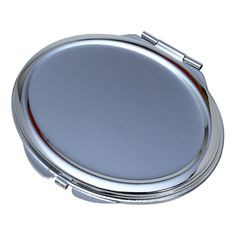 Wholesale Lot of 25 Blank Metal Compact Cosmetic Mirror Cases Oval