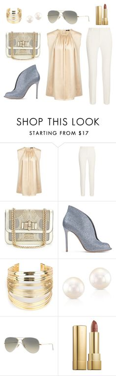 """""""golden sky"""" by rosmarimad on Polyvore featuring Joseph, Roland Mouret, Christian Louboutin, Gianvito Rossi, WithChic, Ray-Ban and Dolce&Gabbana"""