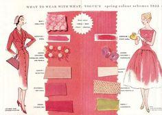 Vogue's spring colour schemes, 1955.