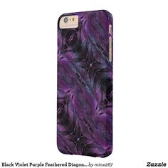 Shop Black Violet Purple Feathered Diagonal Design Case-Mate iPhone Case created by Personalize it with photos & text or purchase as is! Ipod Touch Cases, Cool Cases, Blue Feather, Iphone 6 Cases, Design Case, Apple Iphone 6, Pattern Art, Ipad, Purple