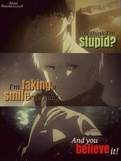 POPSUGAR - It& sad that almost no one ever notices how . - POPSUGAR – It is sad that almost nobody is noticed as you scream inside . Ken Anime, Anime Life, Sad Anime Quotes, Manga Quotes, Anime Depression, Tokyo Ghoul Quotes, Ken Kaneki Tokyo Ghoul, Memes, Dark Quotes