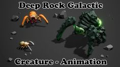 Deep Rock Galactic - Creature Animations #2 - Idle and Attack - Unreal E...