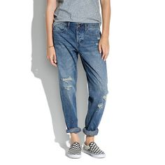 Madewell - Rivet & Thread Worker Jeans in Seablue Wash