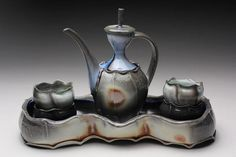 katriona drijber wine ewer, cups and tray