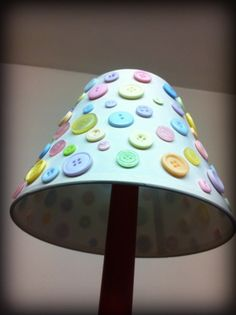 Button lamp shade cream lamp shade pastel by DitsyButtonLove