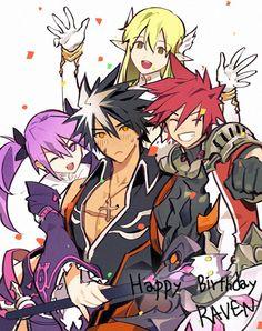 Raven, Aisha, Rena, Elsword (Elsword)<--- Raven's Birthday :D