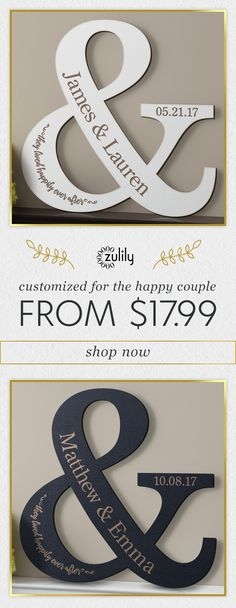 Sign up to shop personalized decor from $17.99. Give your home an extra-special touch with this attractive personalized plaque that makes an ideal wedding or anniversary gift.