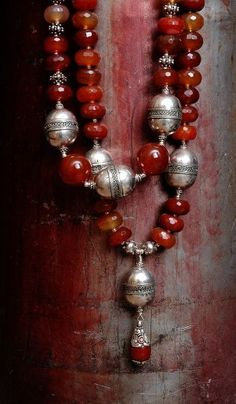 Red and silver - INCREDIBLY STUNNING!! - LOVE THE UNUSUAL STYLE OF THIS AWESOME NECKLACE & THE COLOUR RED....GORGEOUS!!