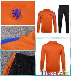 Survet Foot Pays-Bas Homme 16 17 Orange
