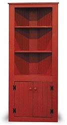 Red Corner Hutch : an idea for a corner coffee station Corner China Cabinets, Corner Hutch, Red Cabinets, Corner Cupboard, Rustic Cabinets, Corner Shelves, Display Cabinets, Rustic Country Kitchens, Country Decor
