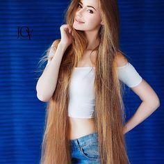 Real Life Rapunzel  Ukraine @alenka_dragun  See all post #shalenkadragun OMG