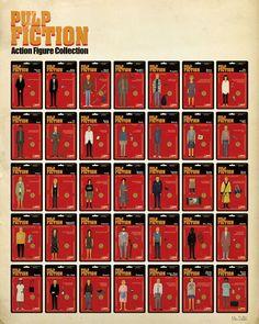 Pulp Fiction Action Figure #tarantino #movieposter #pulpfiction