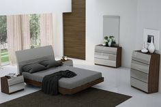 The Colossus Bedroom Collection is a stunning contemporary design and is featured in a beautiful Java finish. Furniture Depot, Furniture Sets, Furniture Design, Modern Bedroom, Bedroom Decor, Wood Bed Design, La Rive, King Bedroom Sets, Queen Headboard