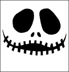 Get scary nerdy with these geeky jack o lantern stencils pumpkin a scary smiling pumpkin carving template maxwellsz