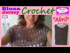 "BLUSA Jersey Remera ""Abril"" (Parte 1) CROCHET Hombro Caído Cuello Ojal por Maricita Colours - YouTube"