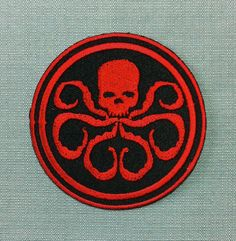 Patch Hydra Captain America Avengers Ennemi Super Héros Film Comics BD Ecusson Brodé Applique Badge : Déco,…