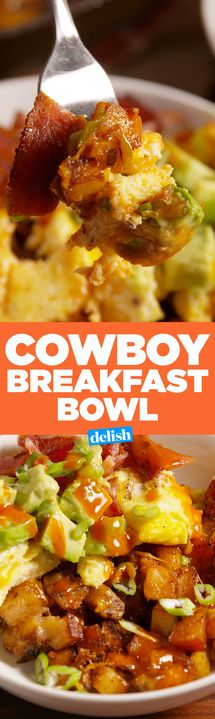 These cheese-smothered potatoes are the best part of our Cowboy Breakfast Bowls. Get the recipe from Delish.com.