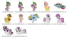 Package 12 My Little Pony 10 Embroidery Designs  This listing is for a digital file to be embroidered. You will need an embroidery machine to