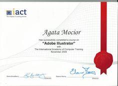 2009, Adobe Illustrator Cert
