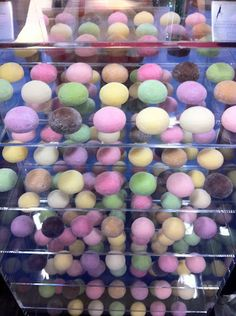 Bubbies Ice Cream, a Hawaiian company, displayed this beautiful selection of mochi desserts at the Fancy Food Show in 2011.