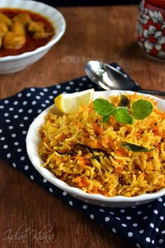 Carrot Rice Recipe - a quick, easy and tasty variety rice which works great for potluck, lunch box.