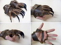 Claw glove steam punk - metal findings, old [seldom used] gloves!