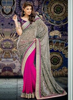 Indian Bridal Wear Saree Fashion Designed Outfits 2014 1 Indian Bridal Wear Saree Fashion Designed Outfits 2014