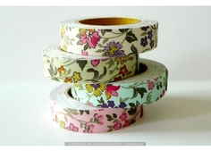 Fabric Tape - Wild Flowers Decorative Tapes - Pretty Craft Tape