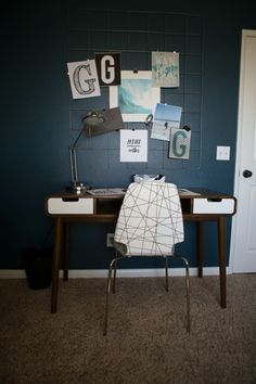 Mid Century Inspired Teen Boy's Room One Room Challenge Reveal - Honey N Hydrangea