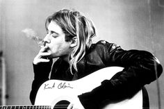 Nirvana Kurt Cobain Smoking - Official Poster