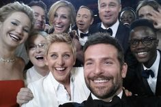 And the Selfie itself!!! Gotta love celebrities who don't think highly of themselves! It's about having fun and celebrating the art of movies! #Oscars2014