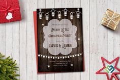 Check out this item in my Etsy shop https://www.etsy.com/listing/568704713/mason-jar-christmas-party-invitation