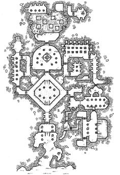 The Temple of Ar'Nuuld [Deities, Demigods, and the Devout who Love Them] Dark Fantasy, Fantasy Map, Medieval Fantasy, Dungeons And Dragons, Rpg 2d, Level Design, Map Layout, Dungeon Maps, Dungeon Tiles