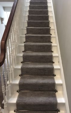 A beautiful Hazy Days carpet installation performed by Rodger. A beautiful Hazy Days carpet installation performed by Rodgers of York, in York. Hallway Carpet, Hallway Flooring, Basement Carpet, Carpet Stairs, Wall Carpet, Bedroom Carpet, Basement Stairs, House Stairs, Ladder